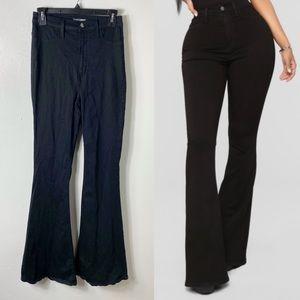 Fashion Nova 9 Black Flare High Rise Jeans 28